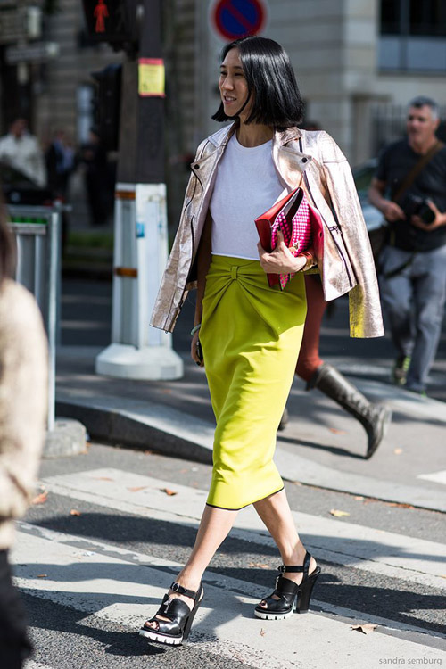 Paris Fashionweek ss2014 day 7, outside Miu Miu, Eva Chen